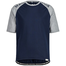 Maloja JupiterbartM. Gravel Shirt Men, blauw/grijs